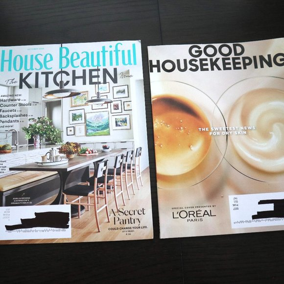 HOUSE BEAUTIFUL & Good House keeping Magazine 2020